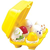 Vinsani TOMY TODDLER BABY INTERACTIVE TOY PLAY TO LEARN HIDE 'N' SQUEAK EGGS AGE 12M+