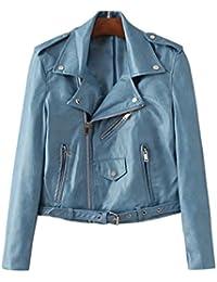 406a725c15f82a iBaste Kunstlederjacke Damen PU Lederjacke Leather Jacket für damen  Übergangsjacke Bikerjacke Kurz Jacke Mantel…