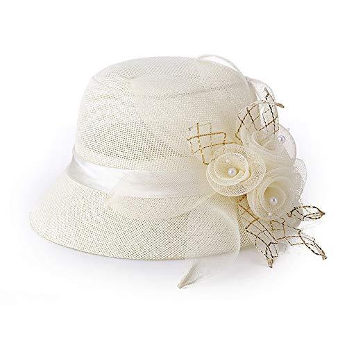 a2c4099588e FANG-STUDIO Ladies  Hat Summer Hat Linen Outdoor Fashion Hat Sun Hat Sun  Basin