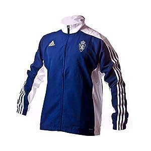 zaragoza: adidas Mt14 Chaqueta Real Zaragoza Fc, Hombre, Azul (Azuosc), S