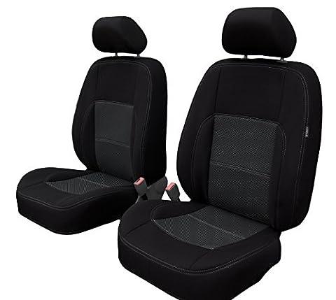 Vordersitzbezüge Universal Erjot2010 Sitzbezüge Schonbezüge Autositzbezüge Schwarz passend für VW
