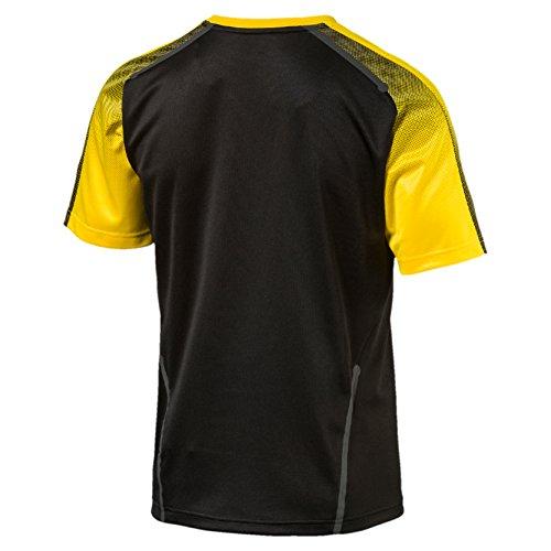 Puma Herren Bvb Stadium Jersey Without Sponsor Logo T-Shirt noir/jaune fluo
