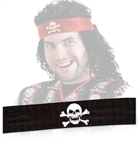 . 120 cm, Unisex, Halloween, Haarschmuck, Piraten-Haarschmuck (schwarz) (Günstige Piraten-halloween-kostüme)