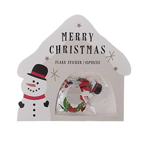 hnachtssticker Dekoration Weihnachten DIY Aufkleber (Schneemann) ()
