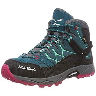 Salewa JR ALP TRAINER MID GTX, Jungen Trekking- & Wanderstiefel, Türkis (Shaded Spruce/rose Red 8632), 32 EU (13.5 UK)