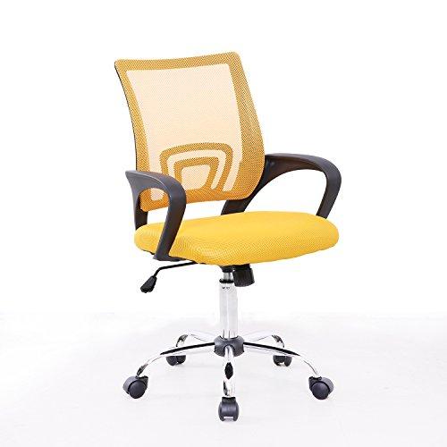 Bürostuhl Netzbezug Drehstuhl Schreibtischstuhl Stuhl Schreibtisch Schwarz (Gelb)