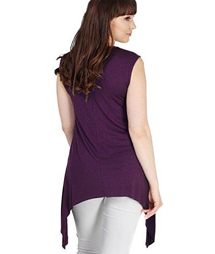 Krisp® Canottiera elasticizzata da donna per la gravidanza, misura Wear Purple
