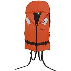 Rettungsweste Schwimmweste Compass 100 Newton mit Schritt- und Taillengurt, 40-60 kg