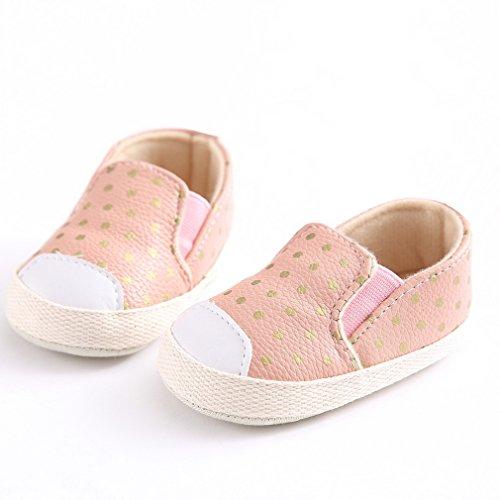 EOZY Babyschuhe Weiche Rutschfeste Schuhe Sneaker Krippe Schuhe Pink