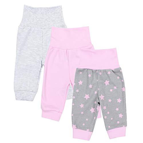 TupTam Baby Mädchen Lange Pumphose 3er Pack, Farbe: Farbenmix 2, Größe: 56 -