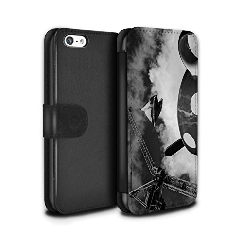 Stuff4 Coque/Etui/Housse Cuir PU Case/Cover pour Apple iPhone 5C / Fausse Alarme Design / Imaginer Collection Envie Tasse Thé