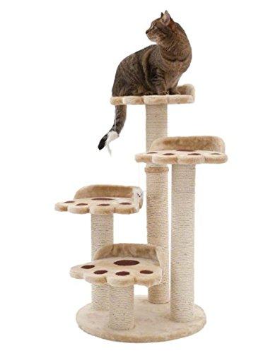 CATTREE 4Level Bärentatze Katze Baum–4stabile Pfosten für Ihr Cat 's Zeitvertreib (Vier Pfosten-bett)