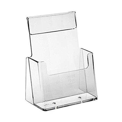Displaypro A6 Portrait Acrylic Leaflet Holder
