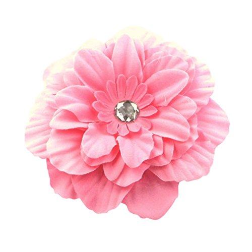 Bride Boutique Mariage Bal de vacances d'été Festival Boho Grande Fleur Pince à cheveux Bibi