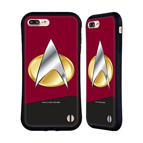 Offizielle Star Trek Captain Uniformen Und Plaketten TNG Hybrid Hülle für Apple iPhone 5 / 5s / SE Befehl