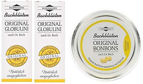 Original Dr. Bach Bachbüten Globuli SOS 2x 10g + GRATIS Original Bachblüten Bonbons 50g