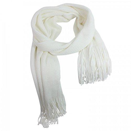 Glamexx24 Super Lange Unifarben Schals Strick kuschelig und warm Schal mit Fransen