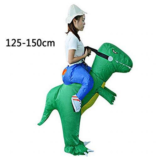 XXF Aufblasbarer Anzug Kind Dinosaurier Kostüm Hosen Aktivität Zeigen Puppe Kinder 'S Sumo Halloween Kostüm,Grün,Höhe 150-180cm