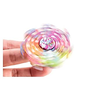 Stress Spinner Colorful Camo Fidget Tri Hand Spinning Finger Toy Stocking Stuffer for ADHD EDC Focus Relieves Anxiety and Boredom by Ruesious