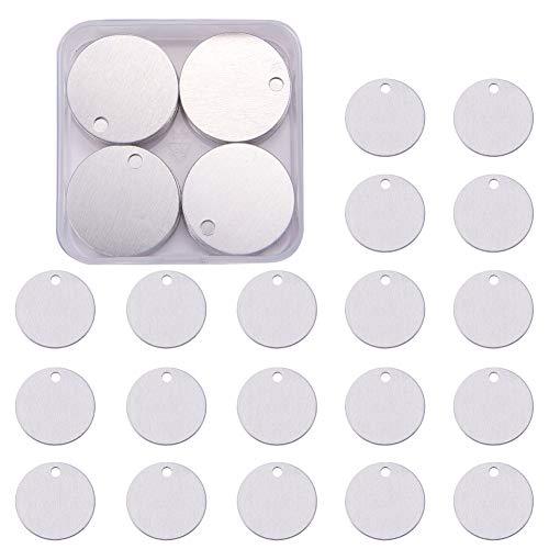 BENECREAT 30 Pack Stanzen Rohlinge Aluminium Blank Anhanger fur Armband Ohrring Anhanger Charms Erkennungsmarken - 1,18