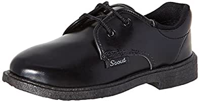 BATA Boy's Nova Scout Black Formal Shoes - 7 Kids UK/India (25 EU) (4216388)