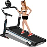 YTBLF Mechanisches Laufband, leise Faltbare Mini-Laufmaschine, Laufband für Fitnessgeräte, mit 3 manuellen Neigungseinstellungen,Black