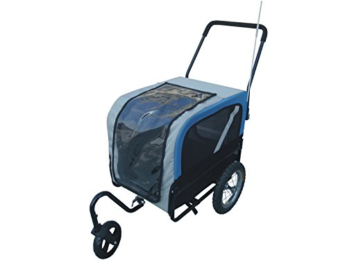 Remorque vélo pour chien et pour poussette avec roue pivotante pour poussette Chat pour petit taille M Charge jusqu'à 55kg 2en 1