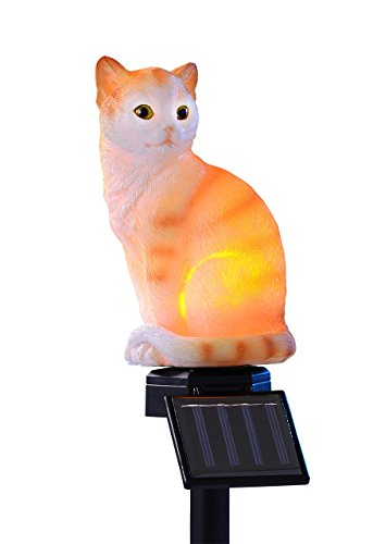 Lampe baladeuse solaire chaton assis Éclairage Rouge/Blanc Chat assis 14908