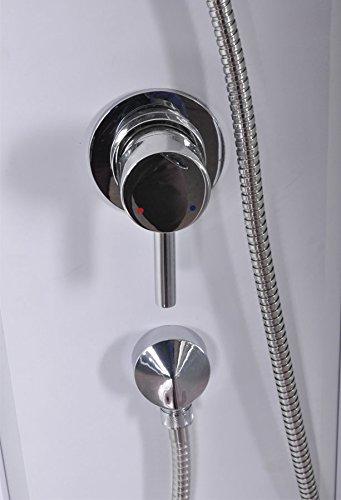 DUSAR Komplettdusche Fertigdusche Astoria 80 cm, 195 cm hoch Duschkabine Eckdusche Eckeinstieg mit vier Wänden rundum geschlossen komplett Dusche - 6