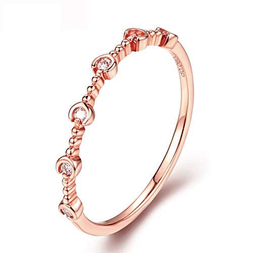 HXUJ Edler Schmuck 18 Karat Gold Trauringe und Diamanten für Frauen Details für die Hochzeit von zertifizierten Naturdiamanten der Klasse S1 (Frauen Und Männer Trauringe 18k)