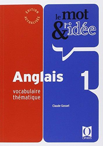 Le mot et l'idée - anglais 1