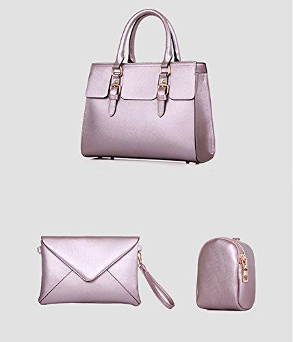 YipGrace Donne Spalla Messenger Bag Portafoglio Cinque Pz Sets Luce Viola