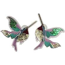 coulorbuttons gran pájaro bordado de lentejuelas con no pegamento Sew On patch insignia de tela apliques, tela, Like the picture, Derecha