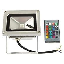Sunsky Waterproof Rgb Led Remote Control Floodlight Lamp - White