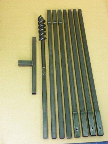 Erdbohrer Erdlochbohrer Brunnenbohrer Pfahlbohrer Handbohrer 70 mm 8 meter Bohrgerät f. Brunnen und Rammfilter