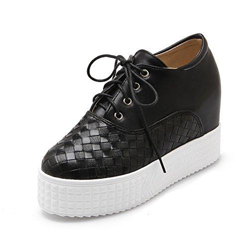 Adee Mesdames Fond Anti-Dérapant en polyuréthane Pompes Chaussures Noir