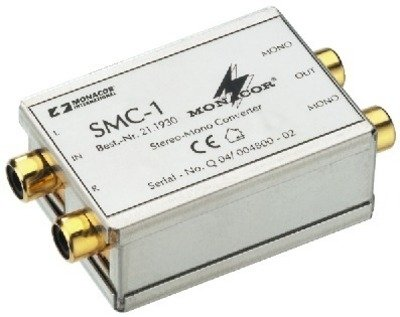 Monacor Stereo/Mono-Konverter (1x RCA L/R auf 2x Cinch MONO)