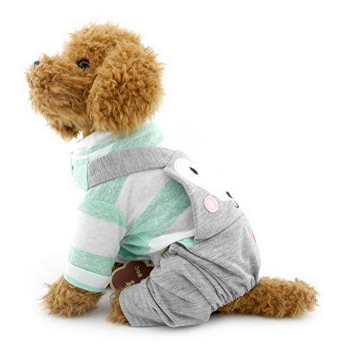 zunea Streifen Baumwolle Weich Kleiner Hund Katze Overall Comfy Pet Puppy Schlafanzüge Coat Jacke Katze Hund Chihuahua Outfits Kleidung Bekleidung