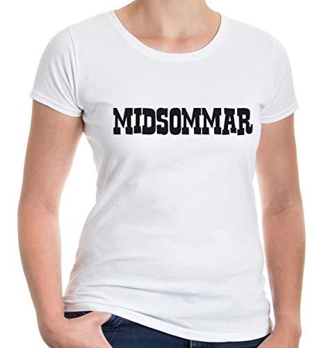 Girlie T-Shirt Midsommar-XXL-White-Black