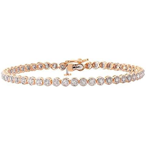 Diamante Bracciale Tennis 9 ct H I2 50d 1,00 ct