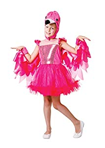 Bristol Novelty CF224L - Disfraz de flamenco para niñas, talla grande, color rosa