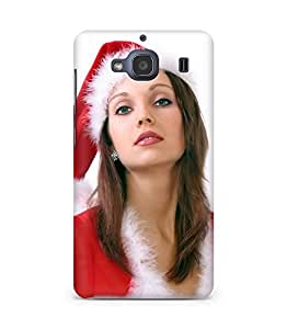 Amez designer printed 3d premium high quality back case cover for Xiaomi Redmi 2S (Santa Girl 6)