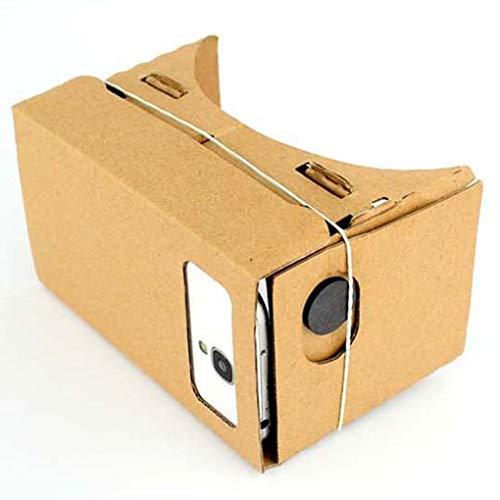 Fliyeong Harzobjektive Pappe 3D VR Gläser der virtuellen Realität, Film-Videospiel VR-Kopfhörer-Schwarzes u. 21 * 8 * 9cm langlebiges Gut und nützlich