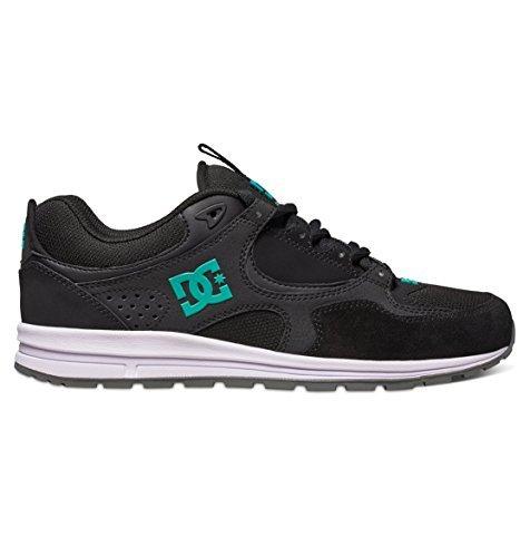 DC Men's Kalis Lite Skate Shoe, Black/Lime, 6 M US Black/turquoise