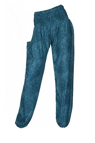 HAREM pantaloni - ALADDIN HIPPIE pantaloni con 18 motivi diversi Paisley Teal