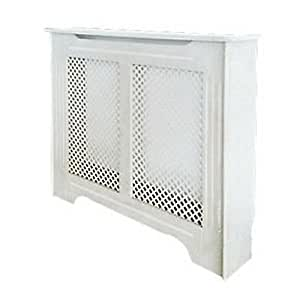 victorian white radiator cabinet cover diamond pattern. Black Bedroom Furniture Sets. Home Design Ideas