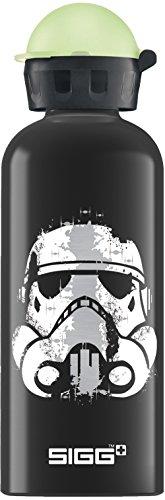 SIGG Star Wars Rebel, Kinder Trinkflasche, 0.6 L, Auslaufsicher, BPA Frei, Aluminium, Schwarz