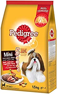 Pedigree Beef, Lamb and Vegetables Mini Toy and Small Breed Dog Food, 1.5 kg