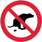 autocollants chien interdit panneau pas d 39 excr ment caca tron besoin lot de 20. Black Bedroom Furniture Sets. Home Design Ideas