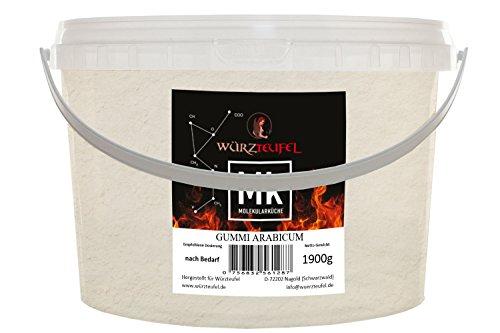 Gummi arabicum, Gummiarabikum, Akaziengummi, E 414. Molekulare Küche. PE - Eimer 1900g. (1,9 KG)